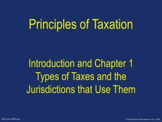 Standards of Tax assessment