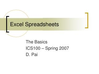 Exceed expectations Spreadsheets