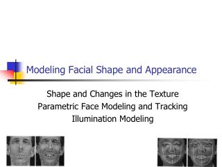 Demonstrating Facial Shape and Appearance