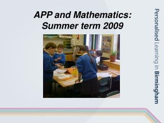 Application and Science: Summer term 2009