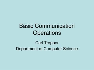 Fundamental Correspondence Operations