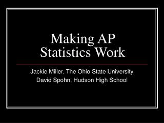 Making AP Insights Work
