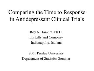 Contrasting the Time with Reaction in Stimulant Clinical Trials