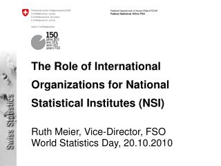 The Part of Universal Associations for National Factual Establishments (NSI)
