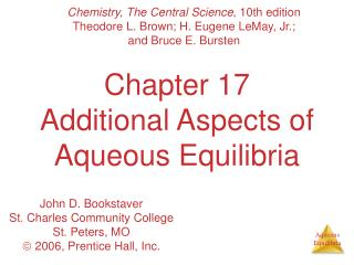 Part 17 Extra Parts of Watery Equilibria