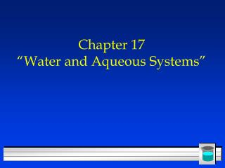 "Section 17 ""Water and Fluid Frameworks"""