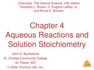 Part 4 Watery Responses and Arrangement Stoichiometry