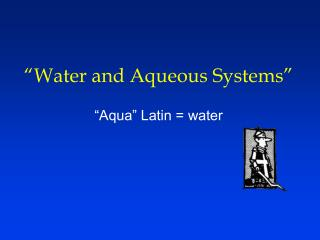 """Water and Fluid Frameworks"""