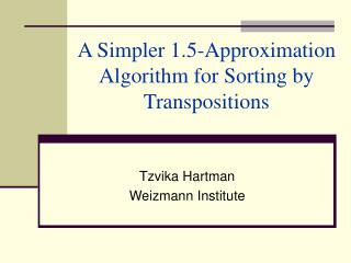 A More straightforward 1.5-Estimation Calculation for Sorting by Transpositions