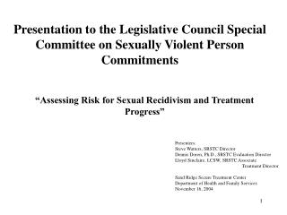 Presentation to the Administrative Chamber Uncommon Panel on Sexually Rough Individual Duties
