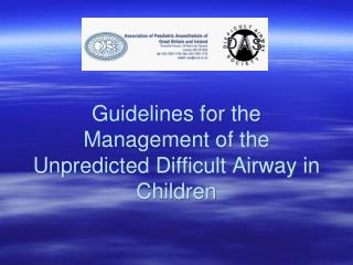 Rules for the Administration of the Unpredicted Troublesome Aviation route in Kids