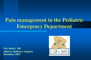 Torment administration in the Pediatric Crisis Division