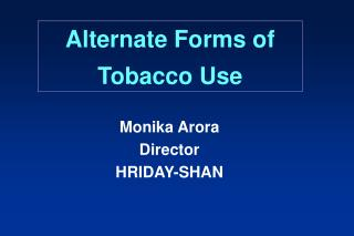 Substitute Types of Tobacco Use
