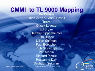 CMMI to TL 9000 Mapping