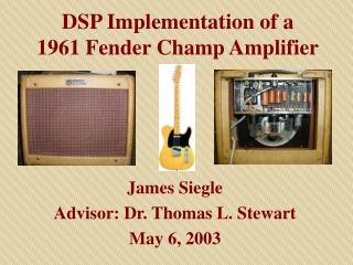 DSP Execution of a 1961 Bumper Champ Speaker