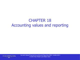 Part 18 Bookkeeping values and reporting