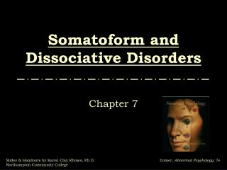 Somatoform and Dissociative Scatters