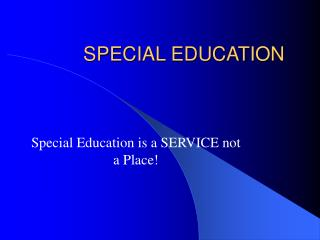 Specialized curriculum