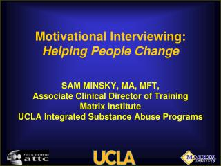 Motivational Talking: Peopling Change