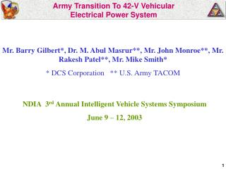 Armed force Move To 42-V Vehicular Electrical Force Framework