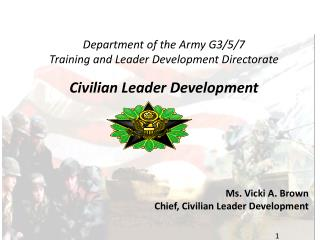 Branch of the Armed force G3/5/7 Preparing and Pioneer Advancement Directorate Regular citizen Pioneer Improvement