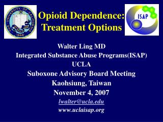 Opioid Reliance: Treatment Choices