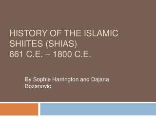 History of the Islamic Shiites (Shias) 661 C.E.