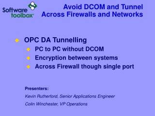 Evade DCOM and Burrow Crosswise over Firewalls and Systems