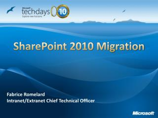 SharePoint 2010 Relocation
