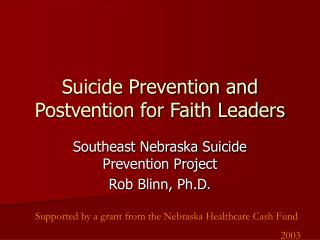 Suicide Aversion and Postvention for Confidence Pioneers