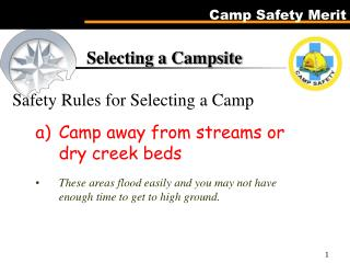 Selecting a Campground Wellbeing Rules for Selecting a Camp