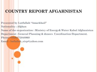 Nation REPORT AFGAHNISTAN