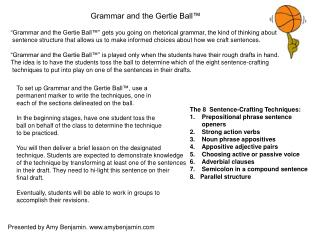 Linguistic use and the Gertie Ball