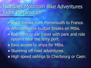 Nicedays Mountain Bicycle Enterprises From Portsmouth