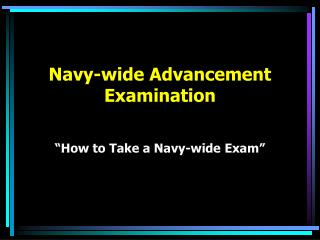 Naval force wide Progression Examination