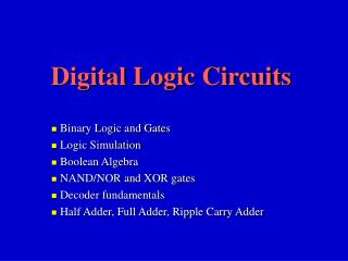 Computerized Rationale Circuits