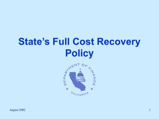 State's Full Cost Recuperation Arrangement