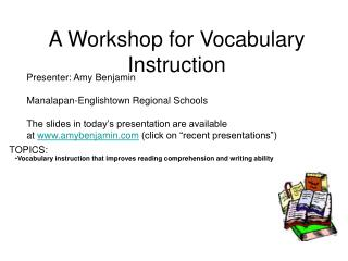 A Workshop for Vocabulary Direction