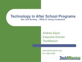 Innovation in After School Programs Not Simply Surfing