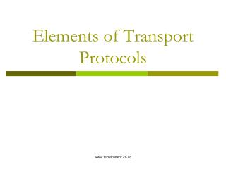 Components of Transport Conventions