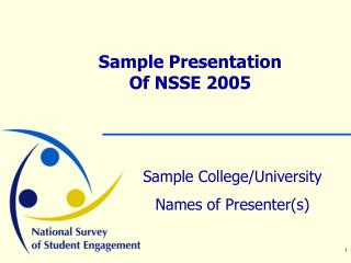 Test Presentation Of NSSE 2005