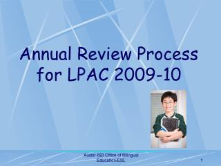 Yearly Audit Process for LPAC 2009-10