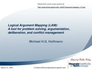 Intelligent Contention Mapping (LAM): An instrument for critical thinking, argumentation, consideration, and peace makin