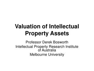 Valuation of Licensed innovation Resources