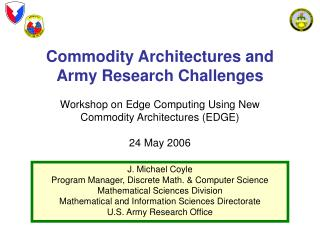 Thing Designs and Armed force Research Challenges Workshop Anxious Figuring Utilizing New Product Structures (EDGE) 24 M