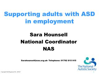 Supporting grown-ups with ASD in work