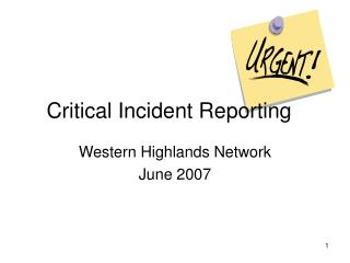 Basic Incident Reporting
