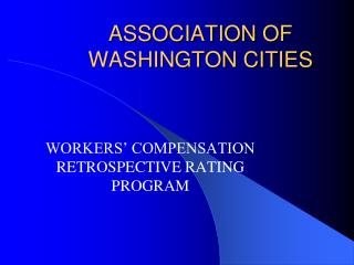 Relationship OF WASHINGTON CITIES