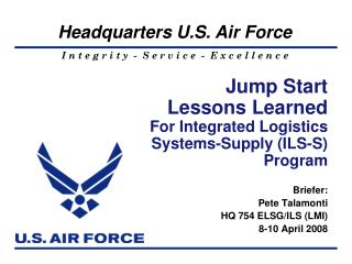 Kick off Lessons Learned For Integrated Logistics Systems ...