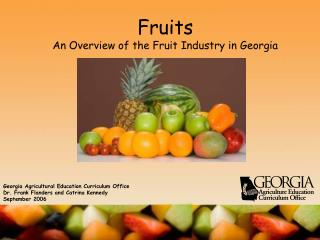 Natural products An Overview of the Fruit Industry in Georgia